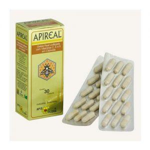 Apireal (Geleia Real liofilizada com vitaminas E, A e C) 30 cápsulas (caixa) – Apis Flora