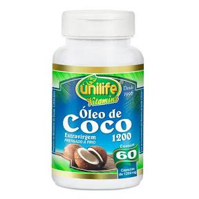 Óleo de Coco ( ExtraVirgem prensado a frio ) 60x1200mg – Unilife Vitamins