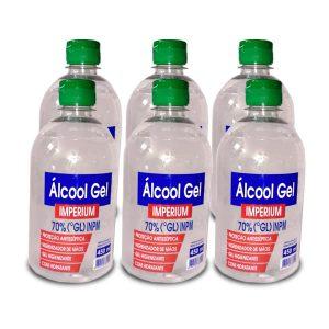Álcool Gel 70% 450ml ( Combo com 6 frascos – Promoção Atacarejo até 31/05/2020 ) – cada unidade : $ 9,50
