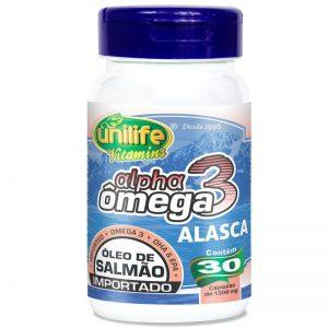 Alpha Ômega3  ( Óleo de Salmão Importado ) 30X1200mg – Unilife Vitamins