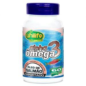 Alpha Ômega3 ( Óleo de Salmão Importado ) 60x1000mg – Unilife Vitamins
