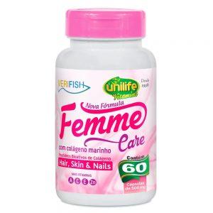 Femme Care Verifish Colágeno Marinho 60x500mg – Unilife