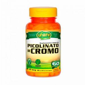 Picolinato de Cromo 60X500mg – Unilife Vitamins