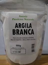 Argila Branca 500g – Amanda Prods. Nats.