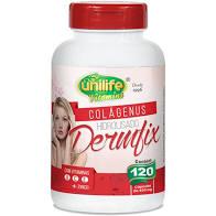 Colágenus Dermfix Hidrolisado com Vitaminas  A,C,E + Zinco  120x450mg – Unilife Vitamins